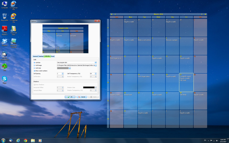 Calendar Planner On Computer : Interactive calendar free desktop software and