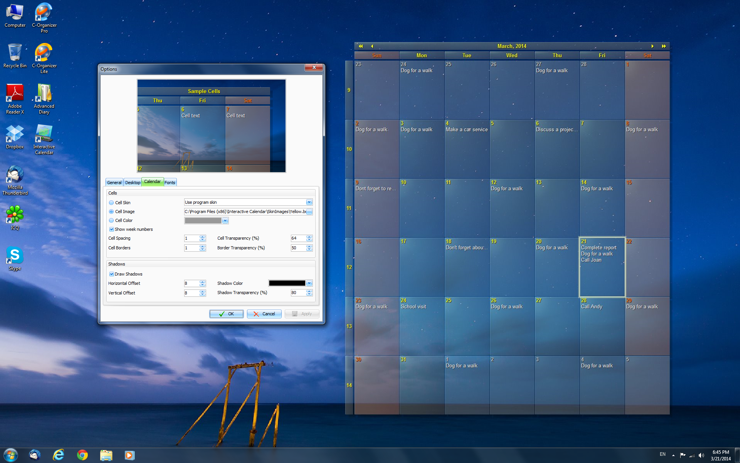 Interactive calendar free desktop calendar software and for Computer planner software