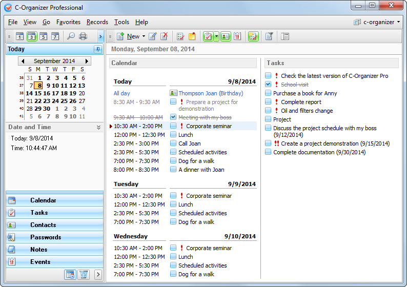CSoftlabs C-Organizer  crack c-organizer_today.pn
